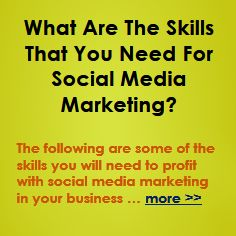 What Are The Skills That You Need For Social Media Marketing?  http://hubclue.com/blueprint/a/skills-you-need-for-social-media-marketing/     Some of the skills that you will need to use social media marketing effectively to profit in your business, are as follows … more >>  #SocialMediaMarketing #SocialMedia #SMM #SMO #Social #Marketing #Sales #Business #Ecommerce #Profits #Profit