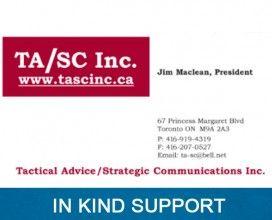TA/SE Inc. - In Kind Sponsor 2015