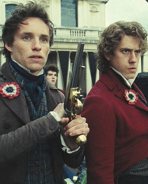 """Did you see them going off to fight? Children of the barricade who didn't last the night.""  (Well, you know, except for Marius.  And doesn't Aaron Tveit look fabulous?)"