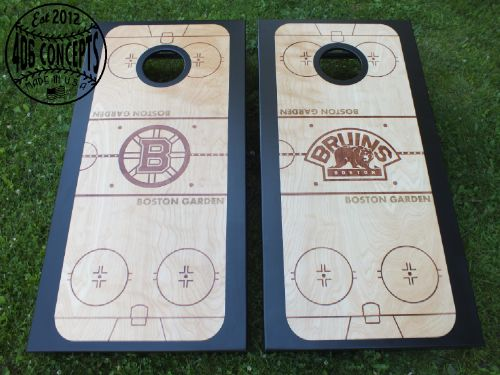 boston bruins ice rink cornhole boards - Corn Hole Sets