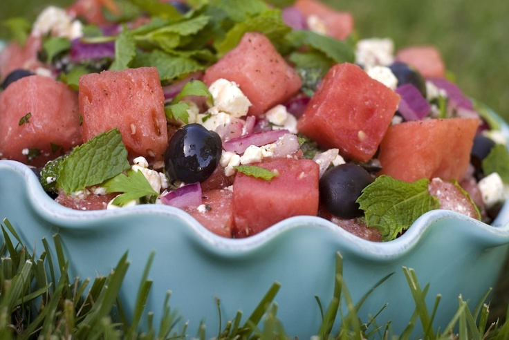 Arugula-Watermelon Salad with Mint | Live Well - EAT Well | Pinterest