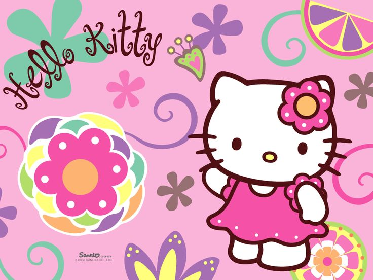 hello kitty pink flower colorful