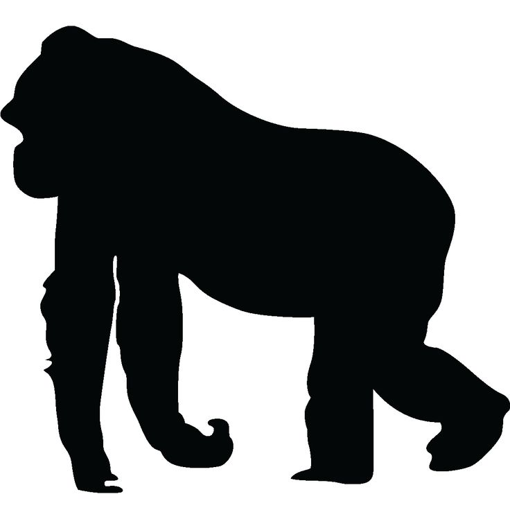 Animals wall decals - Silhouette gorilla Wall decal   Ambiance-sticker.com