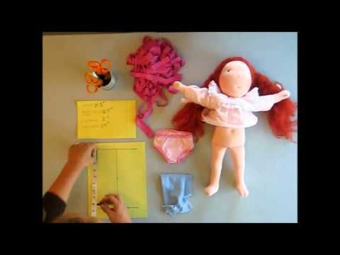Part 1 How to Make Panties for your doll. Free Doll Underwear Tutorial by Julie Colby