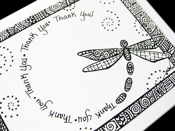 Dragonfly Zentangle card