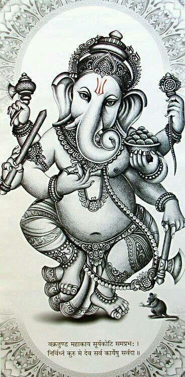 Ganesha pencil sketch