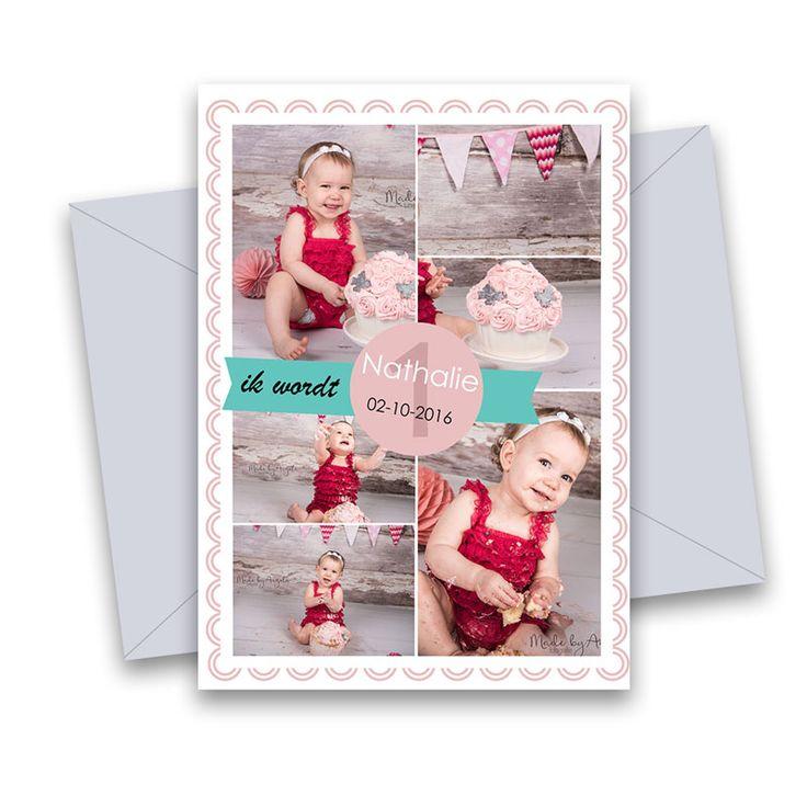 CAKESMASH KAART 5 Verjaardag-kaarten.(jongen en meisje) In de zwarte vakjes kunnen fotos worden geplaatst. Teksten en leeftijd kunnen gewijzigd worden. Leuk te vullen met bijvoorbeeld fotos van een cakesmash-shoot. Afm. kaart 5×7 inch. Volledig gelaagd Photoshop (PSD) bestand. Teksten kunnen worden aangepast. Lettertypes worden meegeleverd. Te gebruiken met o.a. Photoshop (Elements) en Paintshop pro.