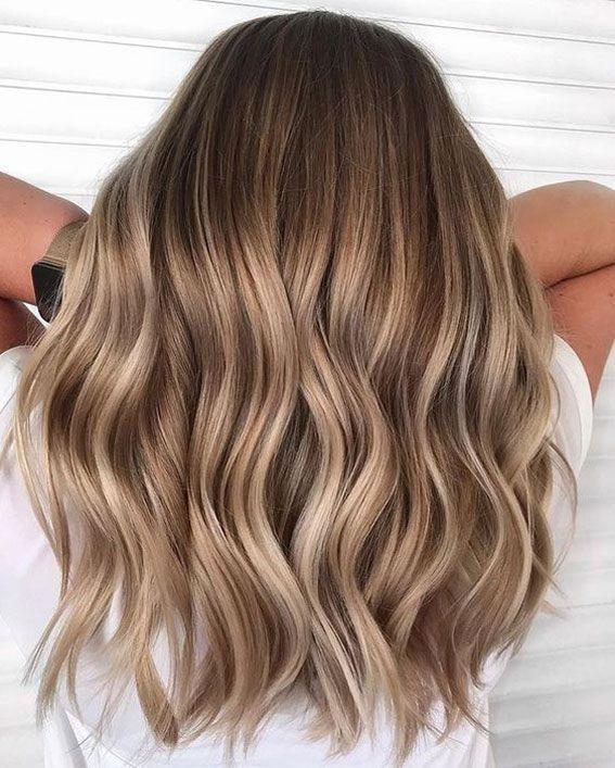 37 Wunderschöne Ideen um Ihre Haarfarbe aufzufrischen Mit Glanzlichtern braunem… – Emely blubb