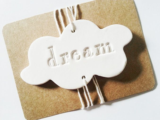 Whimsical cloud keepsakes and gift tags by La Maison Jolie…add a touch of whimsy to baskets, vases, gifts.