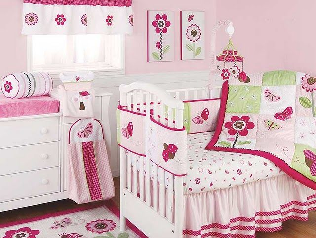 Cute Design For Girls Baby Rooms With Pink Flowers And Butterfly Baby Girls Room Ideas Baby Girls Room Decor Home Design