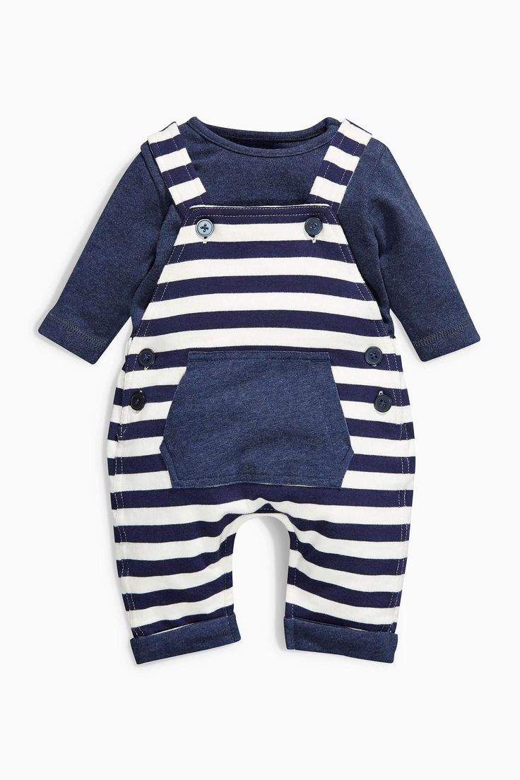 Buy Stripe Jersey Dungarees Set (0-18mths) from the Next UK online shop