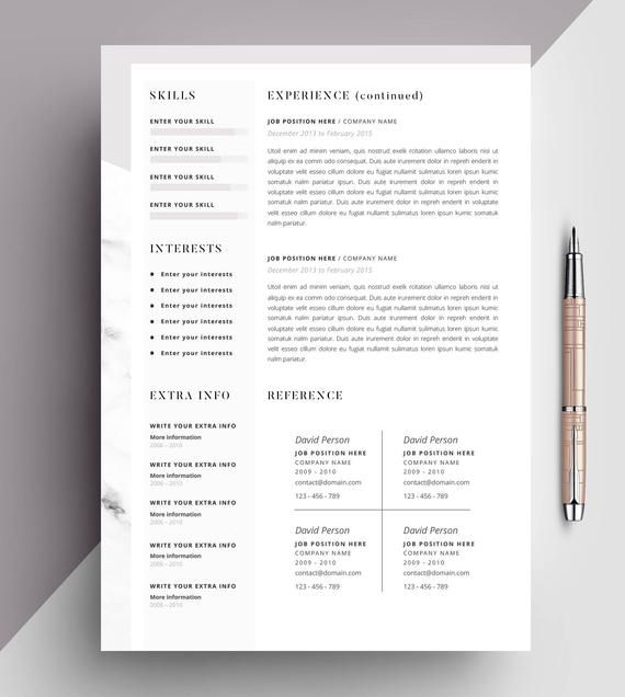 Professional Resume Template Cv Template Editable In Ms Word And Pages Instant Digital Download Size A4 And Us Letter Professioneller Lebenslauf Lebenslauf Lebenslauf Anschreiben