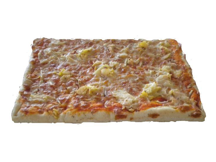 Pizza con patate e cipolle