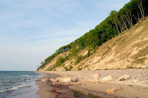 Klify na wyspie Wolin, Poland
