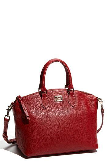 dooney & burke leather satchel