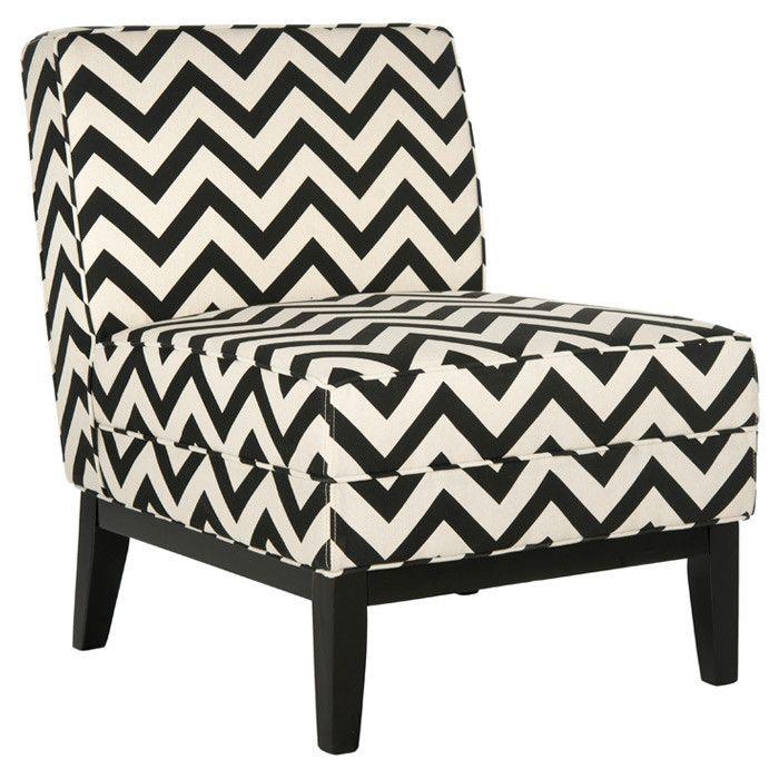 Chevron Chair in Black & White.