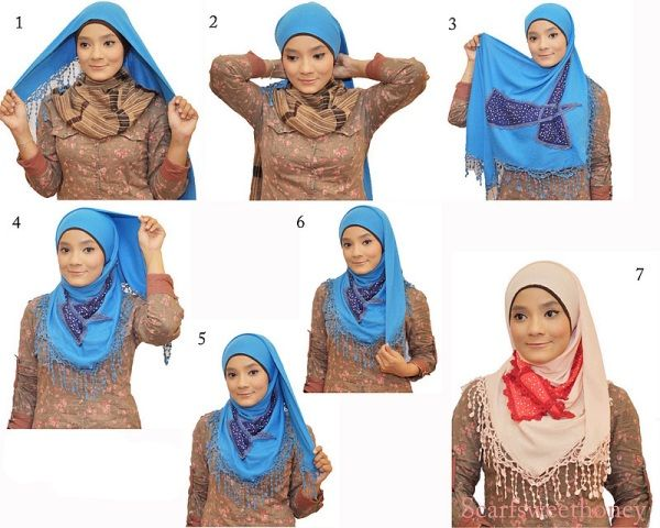 Tutorial Cara Memakai Hijab Segitiga yang Mudah