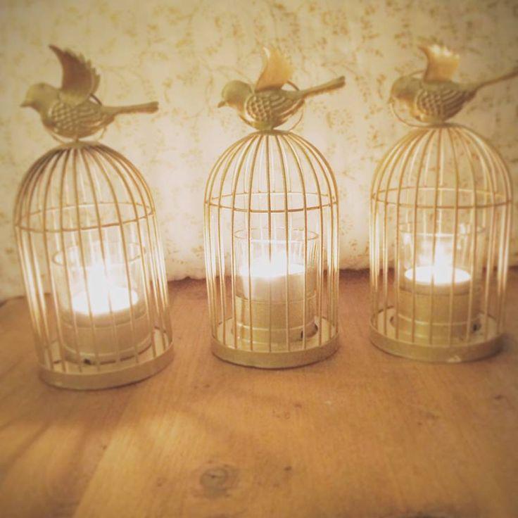 gold birdcage lantern tea light holder by made with love designs ltd | notonthehighstreet.com