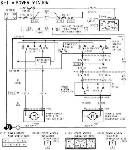 Power Window Wiring Diagram Of 1994 Mazda Rx 7 Mazda Rx7 Power