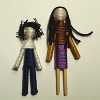 Make your own worry dolls - when I was in high school, one girl made these for everyone on our drill team!  They even looked like each of us!