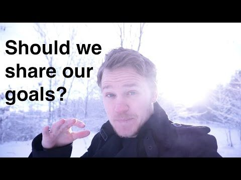 Should we share our goals? - YouTube
