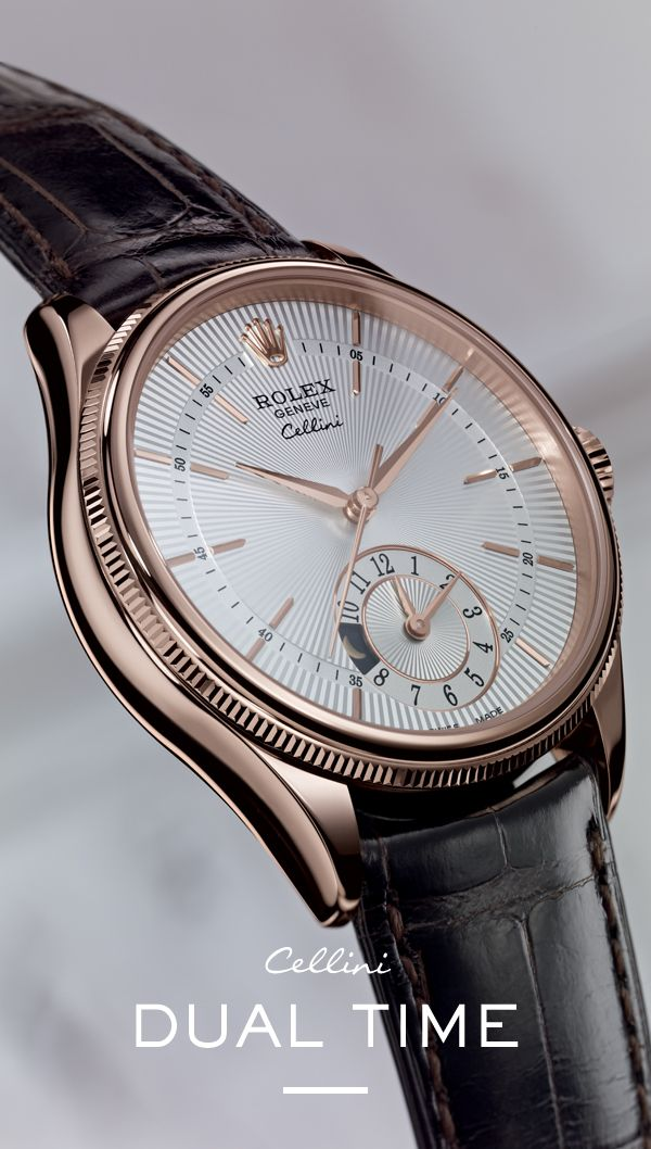 The new Rolex Cellini Dual Time. #RolexOfficial # ...