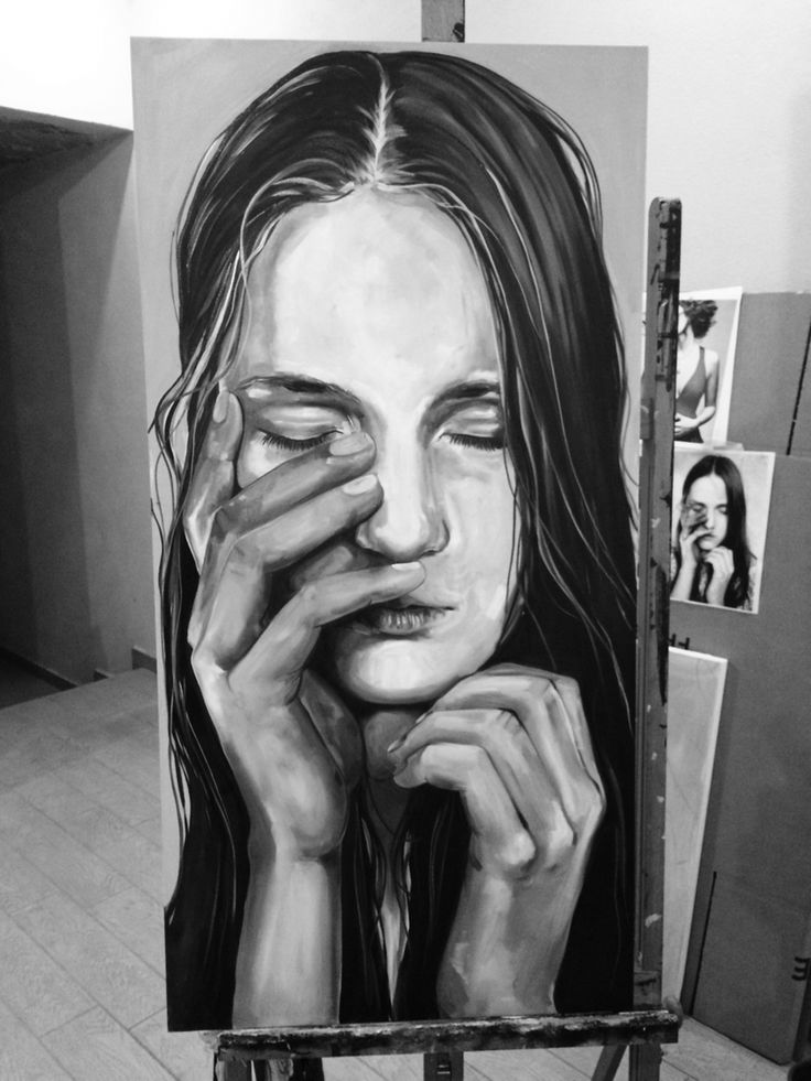 """""""Lontano dagli occhi """" Oil on canvas"""