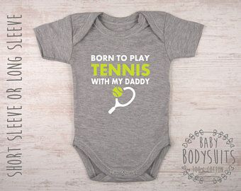 Fun Themed Baby Grow Ball Suit Sport Tennis WIMBLEDON CHAMPION FUTURE