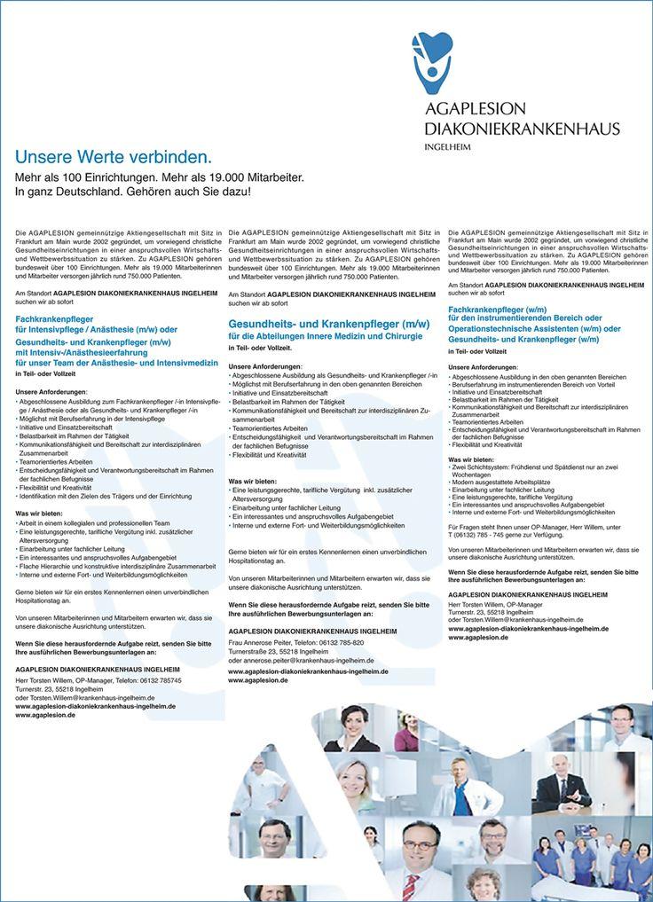 Stellenbezeichnungen: Fachkrankenpfleger für Intensivpflege / Anästhesie Gesundheits- und Krankenpfleger mit Intensiv-/Anästhesieerfahrung Gesundheits- und Krankenpfleger für die Innere Medizin Chirurgie, Fachkrankenpfleger m/w für den Instrumentierenden Bereich  Operationstechnische Assistenten  Gesundheits- und Krankenpfleger  Arbeitsort: 55218 Ingelheim am Rhein Rheinland-Pfalz, Deutschland  Weitere Informationen unter: http://stellencompass.de/anzeige/?id=139384