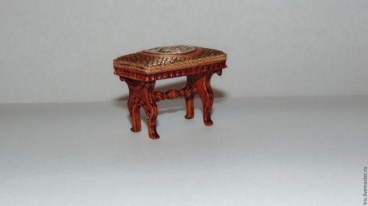 Купить Кукольный табурет 1:12 - коллекционная миниатюра, миниатюра 1 12, кукольная мебель