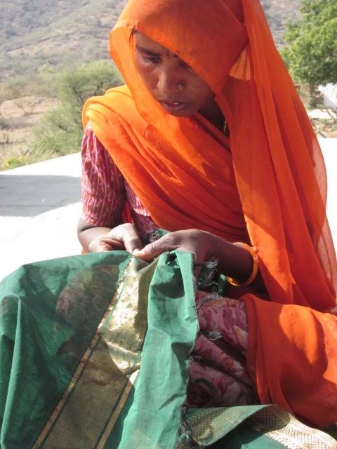 Woman at work. Sadhna. Udaipur.