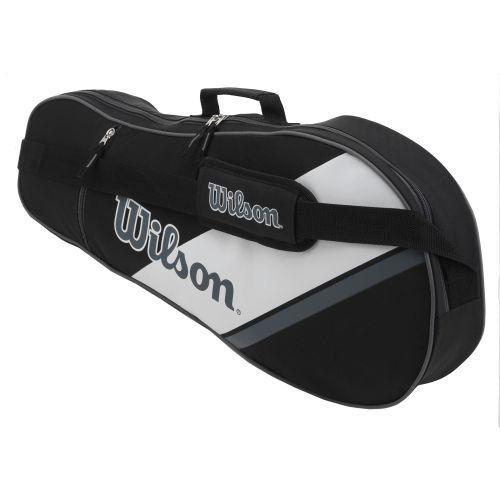 "Wilson Tennis Equipment Bag by Wilson. $19.99. Wilson Tennis Equipment Bag  Measurements: 28""x12""x3.5"" | 71cmx30.5cmx9cm. Save 33% Off!"