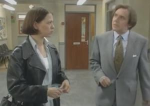 Chalk a BBC series that starred David Bamber and Nicola Walker, written by Steven Moffat. Quirky but funny.