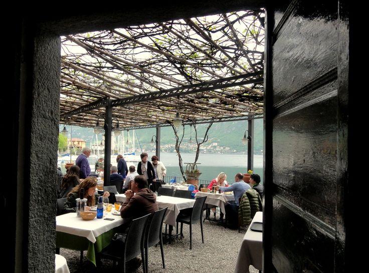 La Pergola Restaurant in Pescallo, Bellagio Rustic pergola