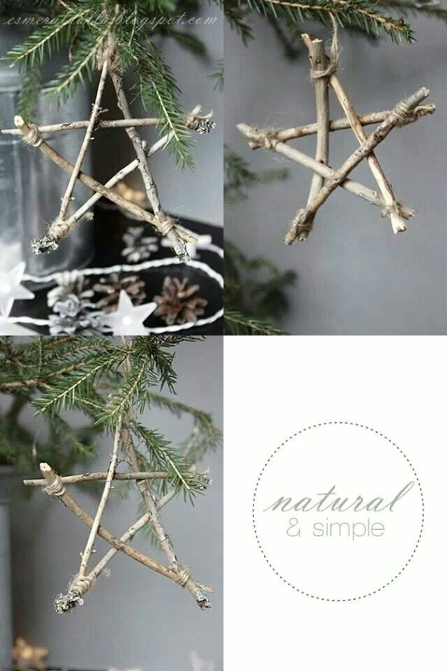 Natural xmas craft decorations