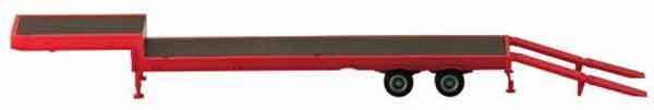 RED 2-Axle DROP DOWN EQUIPMENT TRAILER PROMOTEX 1/87 Truck Accessory HO Scale #Promotex