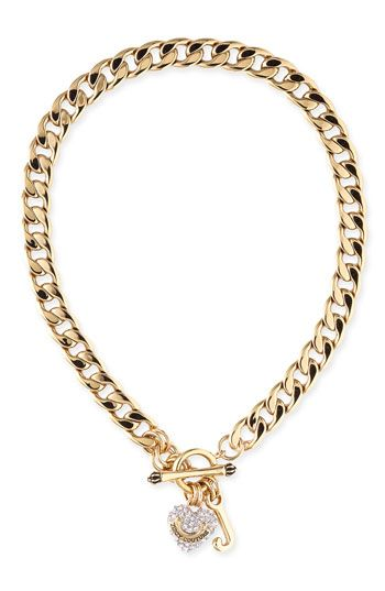 Juicy Couture Pavé Starter Charm Necklace available at #Nordstrom