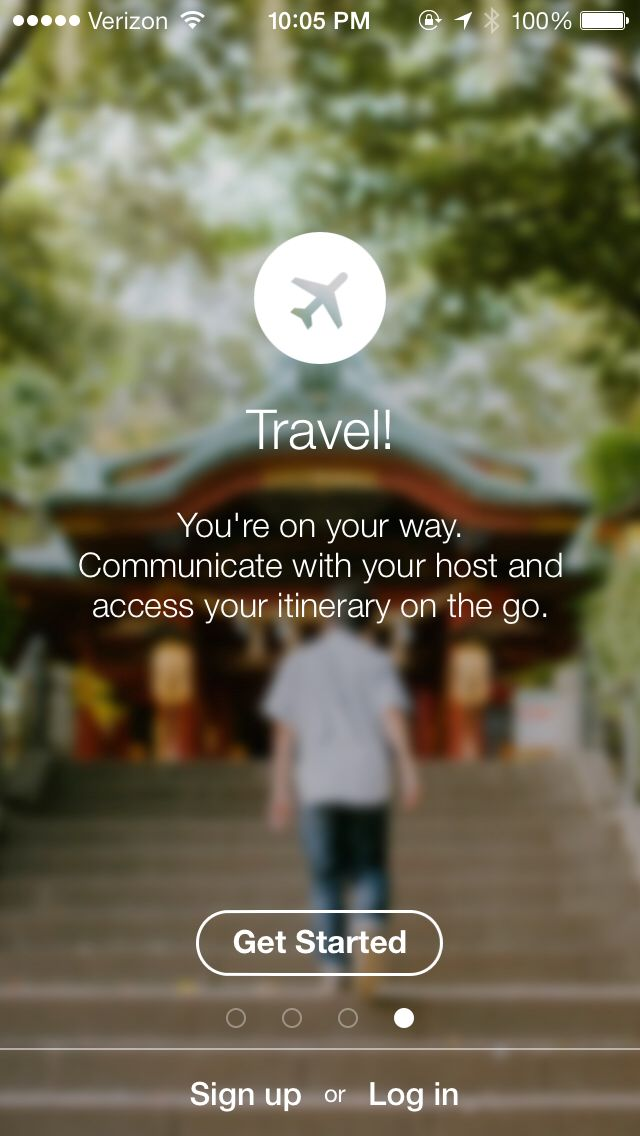 Airbnb -- opaque bg, icon title text displayed