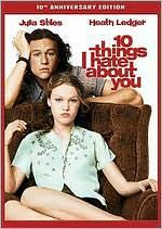 10 Things I Hate About You. In this loose adaptation of Shakespeare's The Taming of the Shrew, Cameron is the new kid in school who becomes smitten with the beautiful Bianca. But Bianca's overprotective and domineering father forbids Bianca to date unless her older sister Kat, an surly and hostile senior, does. Cameron sets out to find Kat a boyfriend. Link to library catalog: https://mplus.mnpals.net/vufind/Record/007828135