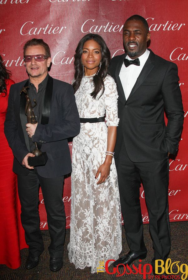Bono, Naomi Harris and Idris Elba.