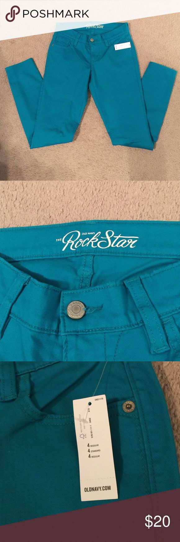 Old Navy Rockstar Jeans NWT!!! Teal colored rockstar jeans from Old Navy. Never worn, new with tags. Size 4 regular. Old Navy Jeans Skinny