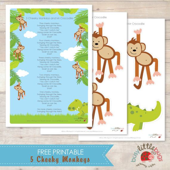 5 Cheeky Monkeys Free Printable Speech Language Therapy
