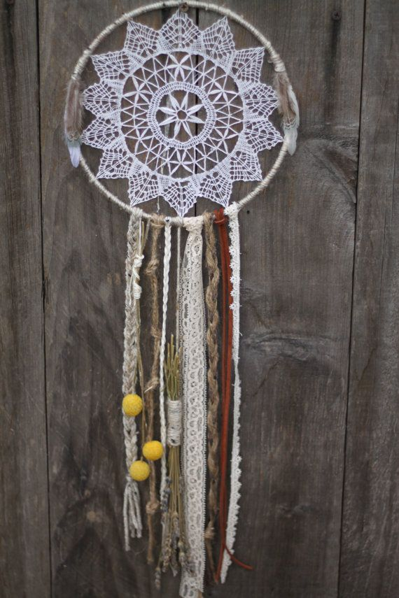 I had 2 of these lace dream catchers made to order for my bedroom . . . to say I just LOVE them is an understatement! . . . I highly recommend this seller and her product!! Check her out on Etsy!! -Mac
