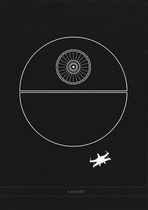 Star Wars Episode IV - A New Hope (1977) ~ Minimal Movie Poster by Kate Syska #amusementphile