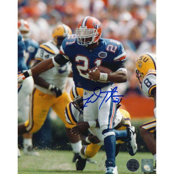 "Fred Taylor Florida Gators Fanatics Authentic Autographed 8"" x 10"" vs. LSU Tigers Defender Around Leg Photograph - $69.99"
