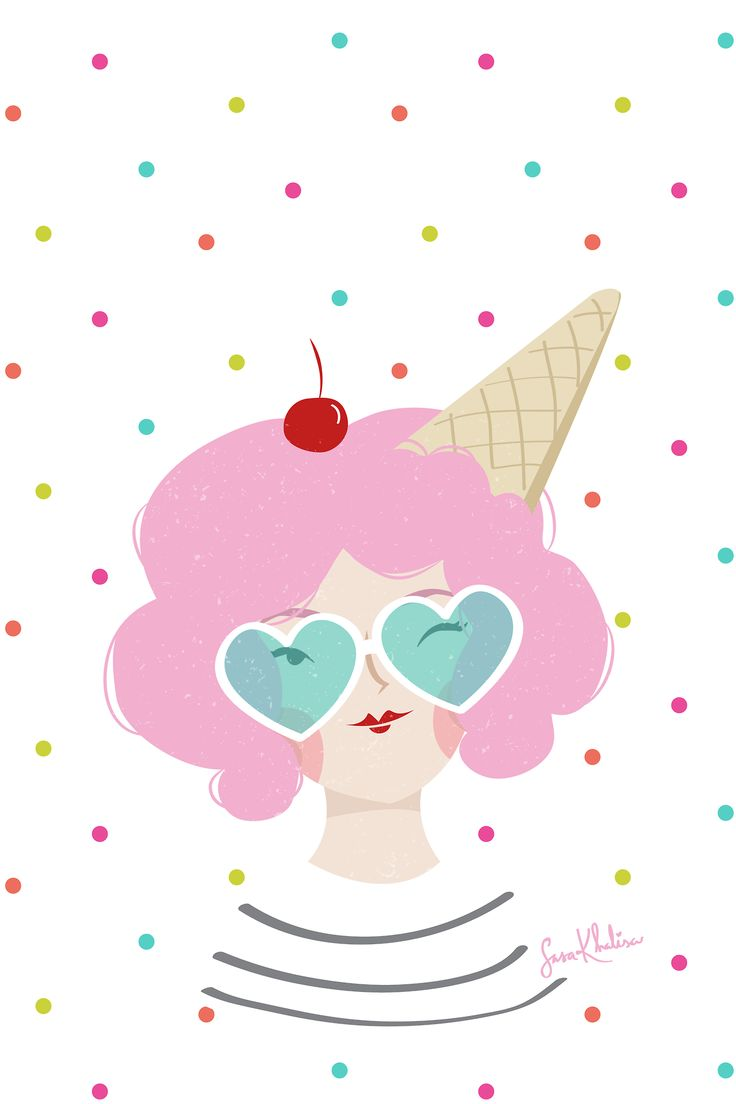 FREE ice cream girl phone wallpaper by Sasa Khalisa