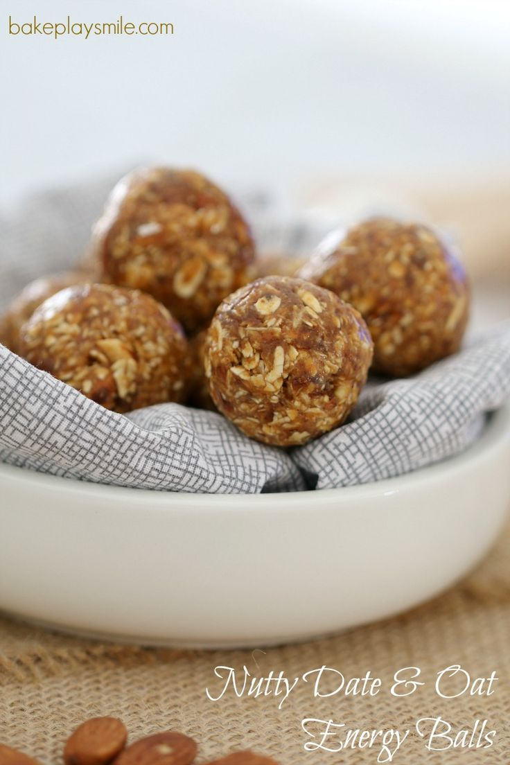 Nutty Date & Oat Energy Balls  These deliciously healthy Nutty Date &…