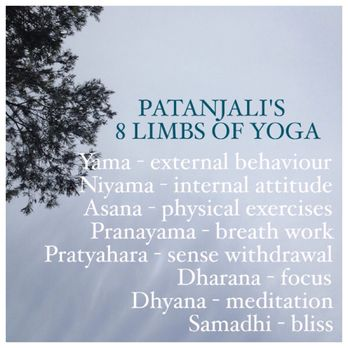 The eight steps to yoga, straight from Patanjali