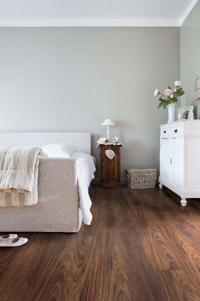 Vinyl vloer met houtlook donker bruin eiken - Viligno dark brown oak #interieur
