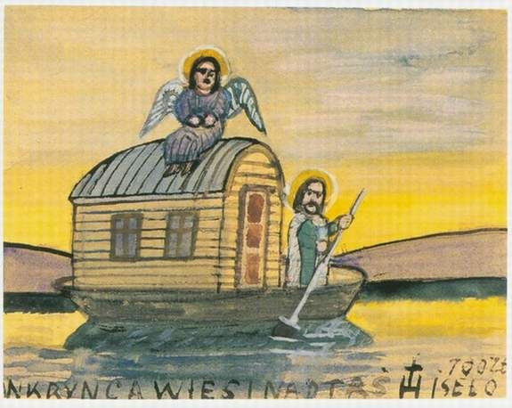 Nikifor : Learn About The Artists : The Collection: The Anthony Petullo Collection of SELF-TAUGHT & OUTSIDER ART